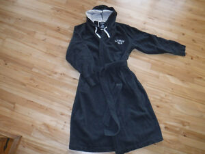 L.L.BEAN super thick FLEECE full length RUGBY ROBE  M