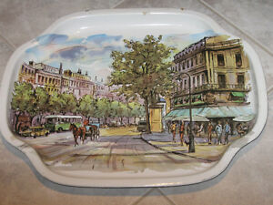 ...Charming Old Serving Tray ..[Great Britain]...