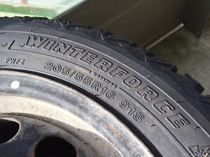 205/55/16 winter tires with  rims London Ontario image 2