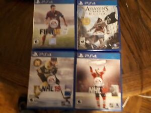 Videos games (PS4 games) for cheap!! FIFA, NHL Hockey!!