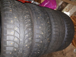 4 TIRES BARELY USED 215/60/17
