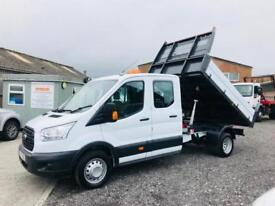 FORD TRANSIT 350 2.2 125ps DOUBLE/CAB ONE STOP TIPPER,33K,16/65