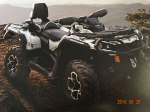 CAN-AM OUTLANDER MAX LIMITED 1000..COMME NEUF! SEULEMENT 660 KM!
