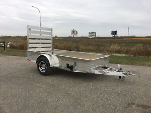 New 2017 H&H 5.5x 12 aluminum solid side utility trailer