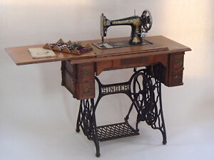 1880's Singer Sewing Machine with Attachments