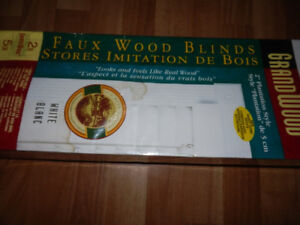 NEW FAUX WOOD BLIND