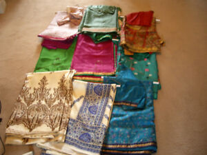 Pure Silk and Chiffon Sarees with Matching Blouses and Slips