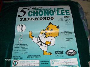 CHONG LEE-TAEKWONDO POSTER-11/1995-5IEME COUPE-MONTREAL