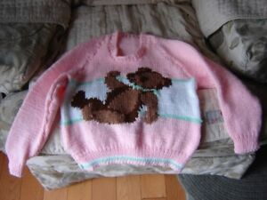 Hand Knit Girls Pullover Sweater