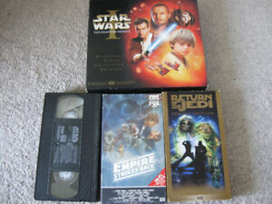 Star Wars Phantom Menace Widescreen VHS Collector's Edition +