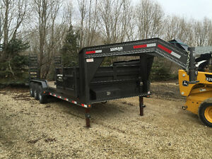 Fifth Wheel Side Dump Trailer