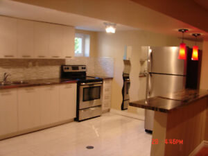 Pickering (Liverpool/Bayly) - Renovated 2 B/R Legal Basement Apt