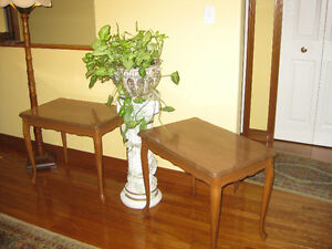 2 Queen Anne style end tables/Side tables