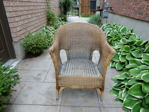 Solid Wicker Chair - Great for Sun porch, Deck, Cottage or Patio Kitchener / Waterloo Kitchener Area image 1