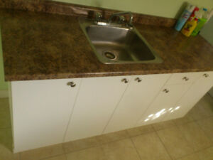 6 foot counter top, 20 inch sink,  with Moen faucets  $90