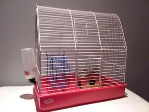 Cage rouge de 2 étages pour rongeurs