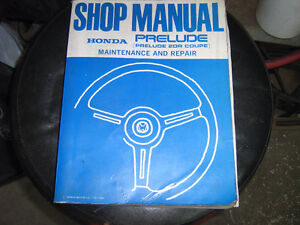 Factory Honda Prelude service manual and supplement