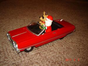 Santa and reindeer low rider car