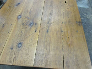 #greenspotantiques Tables, round oak, old worktable, barn door t Cambridge Kitchener Area image 3
