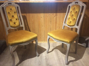 Solid wood chic antique chairs