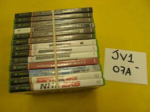 Lot de 13 Jeux de Xbox - Ensemble #JV1-07A JV1-07B