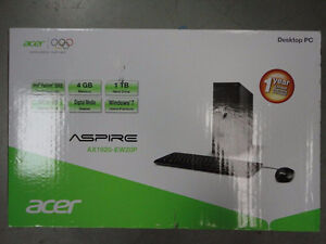 ACER AND GATEWAY ASPIRE DESKTOP WITH KEYBOARD AND MICE