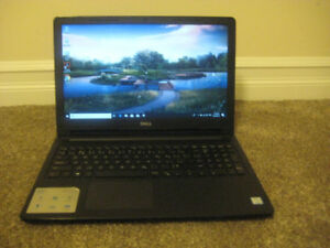 "3-month old 15.6"" Dell Laptop, Intel i3-7130U, 8GB RAM, 1TB HDD"