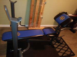 EXCERCISE BENCH FOR FULL WORK OUT IN MINT CONDITION $200HAR