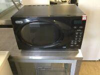 Delonghi glossy black digital microwave oven