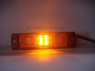 LED UMRISSLEUCHTE -REFLEKTOR MIT 4 LED - GELB / ORANGE - 130 x 32 MM