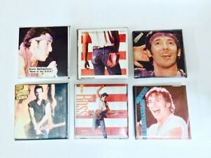 VINTAGE 1984/85 BRUCE SPRINGSTEEN MINI BUTTONS X6 London Ontario image 1
