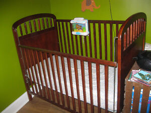 Crib, Mattress, Sheets, Covers, and Fisher Price Water Mobile