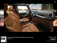 2011 Jeep Wrangler Brown Leather Other