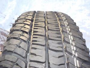 4 - Michelin LTX tires P265/70R/17 A/T-2 (M+S) standard load