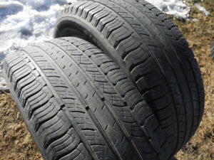 P245/55R19 Pair of Michelin Latitude Tour HP, Pretty good shape!