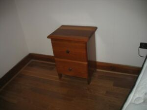 Solid wood night stand in excellent condition