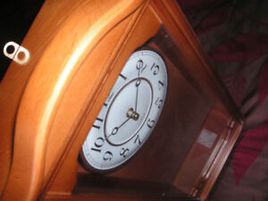 Wall Clock With Pendulum Light Colored Case New still in box
