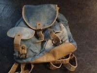 Washed denim back pack in excellent condition, never used.