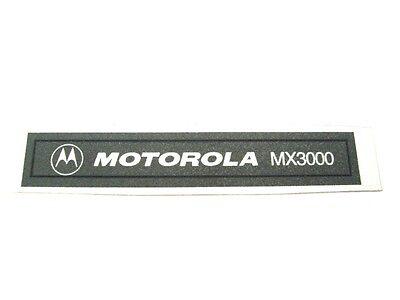 Motorola MX3000 Label Namensplatte  3305183R06
