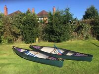 2 X two seater open canoes