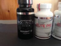 ELITE PRO AND BIOGENIC XR food supplement for peak performance