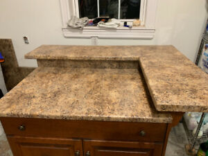 Kitchen island and counter