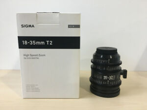 Sigma Cine Lens 18-35mm T2 for Canon