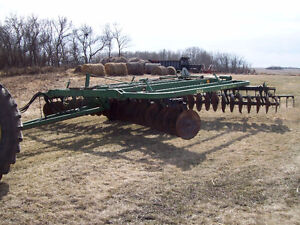 John Deere 230 Tandem Disc with Mounted Harrows