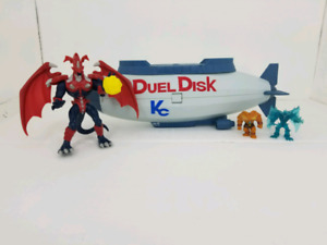 Yi gi oh Duel Disk Blimp and figures