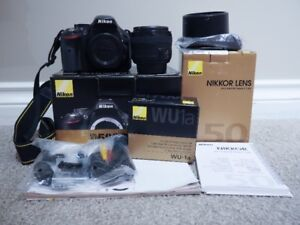 Nikon D5200 DSLR Camera with 50mm f1.8 lens (nifty fifty)