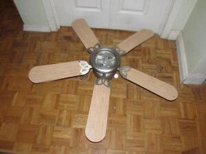Ceiling Fan - Light Wood and Brushed Nickel Kitchener / Waterloo Kitchener Area image 1