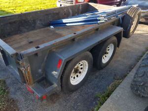 5ft x 10ft double axle utility trailer