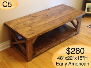 CUSTOM BUILT COFFEE TABLES, YOUR CHOICE OF STAIN Kingston Kingston Area image 2