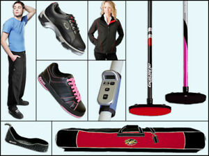 Curling Shoes, Brooms, Clothing and Accessories